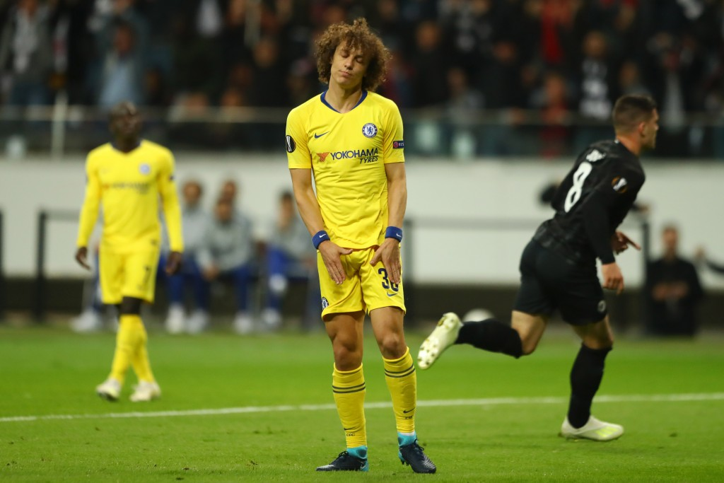 Luiz's free-kick hit the crossbar (Photo by Martin Rose/Bongarts/Getty Images)