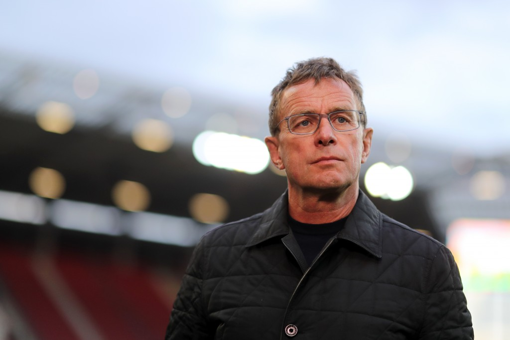MAINZ, GERMANY - MAY 03: Ralf Rangnick, Manager of RB Leipzig looks on ahead of the Bundesliga match between 1. FSV Mainz 05 and RB Leipzig at Opel Arena on May 03, 2019 in Mainz, Germany. (Photo by Simon Hofmann/Bongarts/Getty Images)