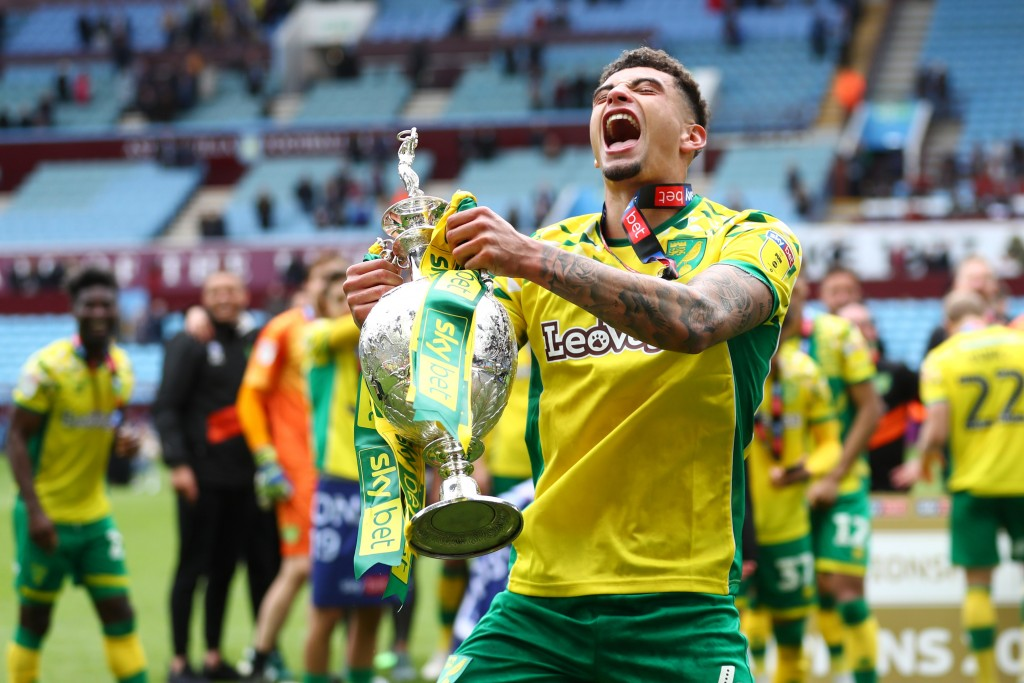 Having tasted success at the Championship level, could Godfrey leave Norwich for Manchester United? (Picture Courtesy - AFP/Getty Images)