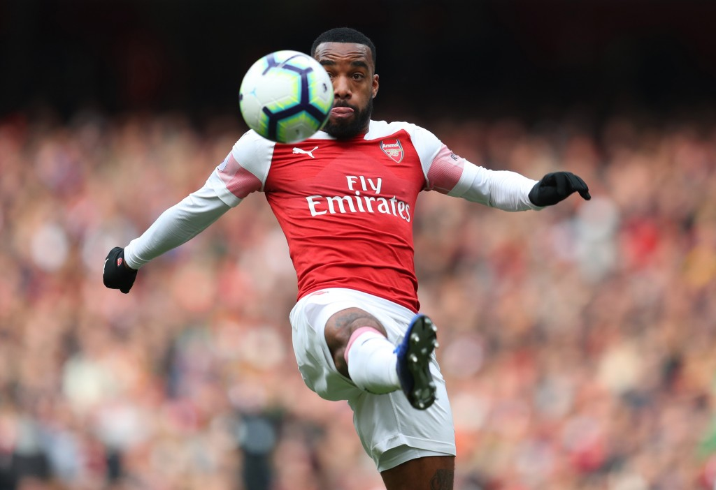 Lacazette was the best of the lot on Sunday. (Photo by Catherine Ivill/Getty Images)