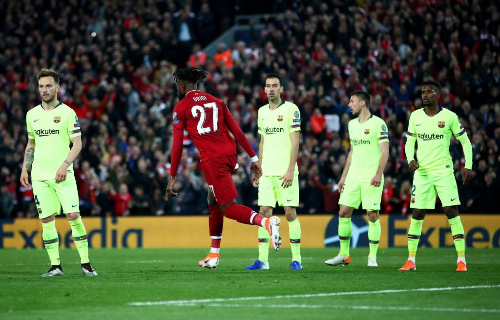 After being the scourge of Barcelona, will Origi end up joining them? (Photo by Clive Brunskill/Getty Images)
