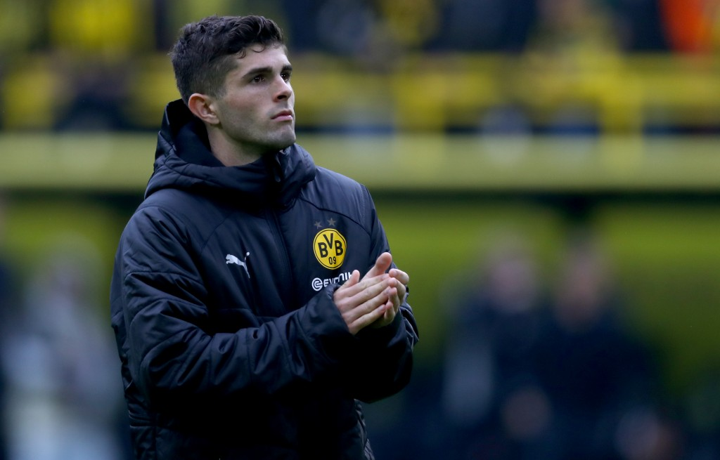 DORTMUND, GERMANY - MAY 11: Christian Pulisic of Dortmund is seen during the Bundesliga match between Borussia Dortmund and Fortuna Duesseldorf at Signal Iduna Park on May 11, 2019 in Dortmund, Germany. (Photo by Lars Baron/Bongarts/Getty Images)
