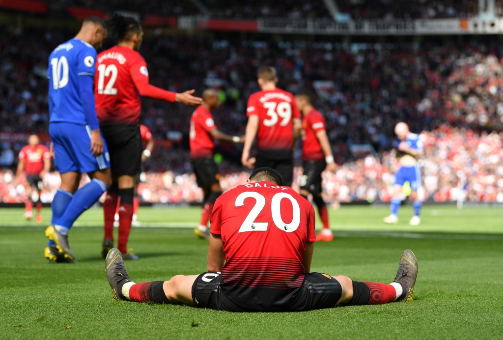 Dalot was unlucky to be penalised for a legitimate tackle. (Photo by Dan Mullan/Getty Images)