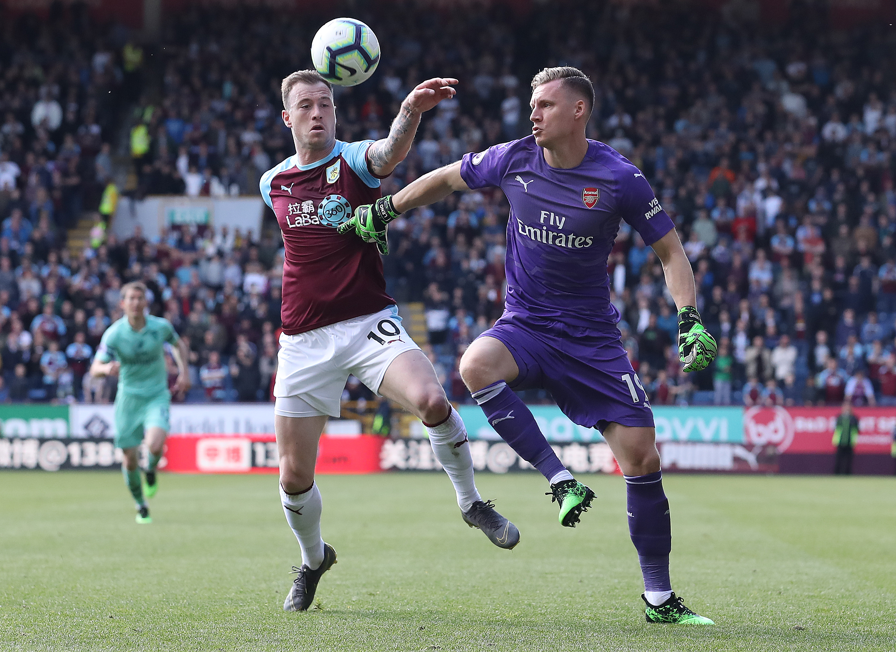 Leno stood his ground in his battle with Ashley Barnes. (Photo courtesy:AFP/Getty)