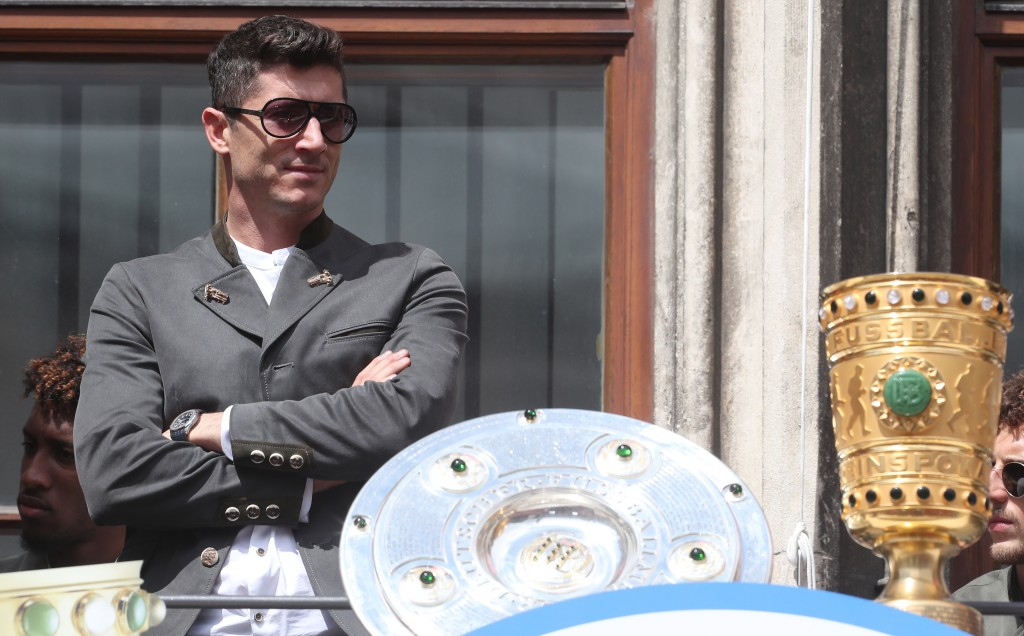 Will Lewandowski have another trophy to lift on Sunday? (Photo by Alexandra Beier/Bongarts/Getty Images)