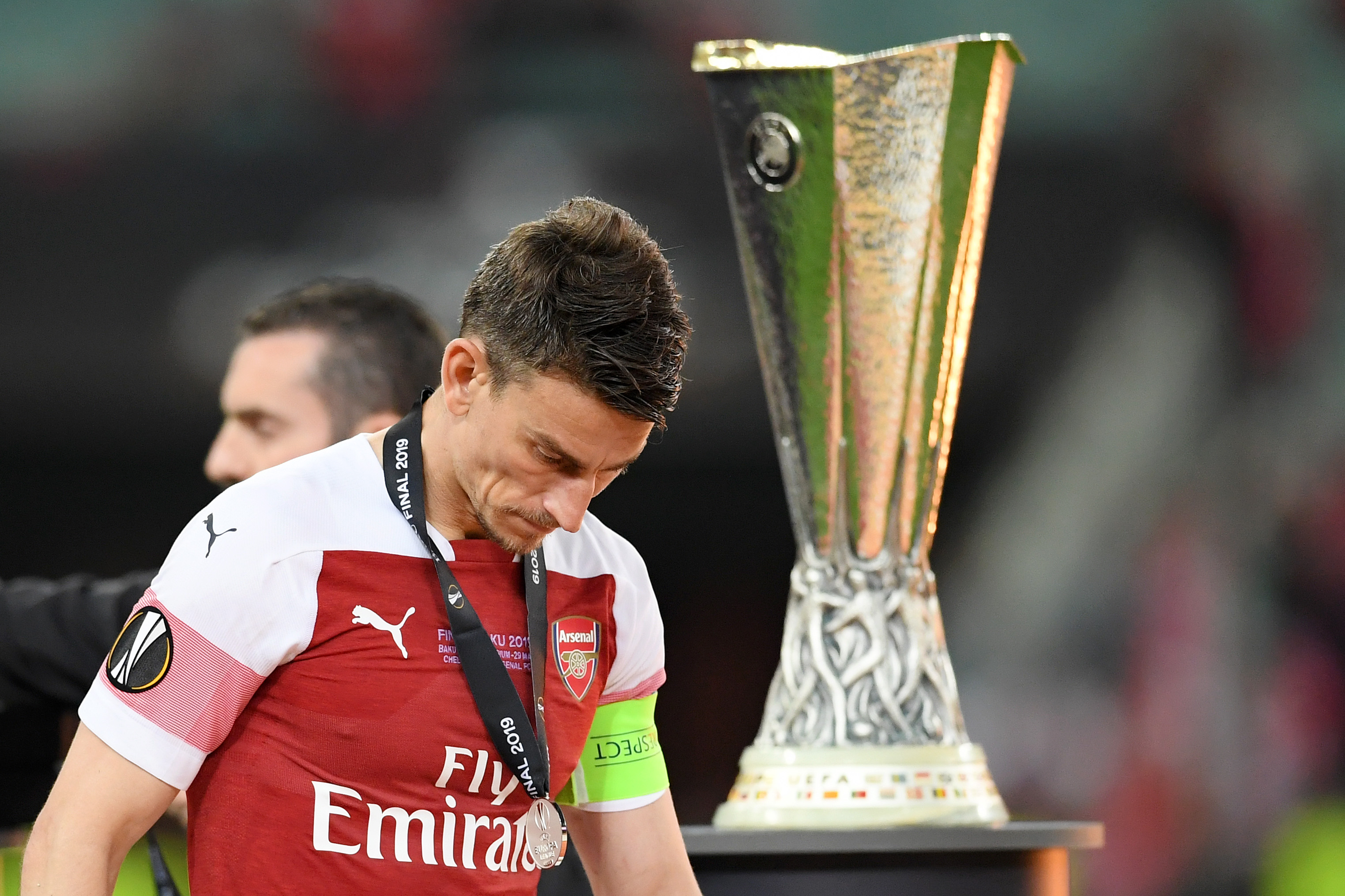 End of the road for Koscielny's Arsenal career? (Photo courtesy: AFP/Getty)