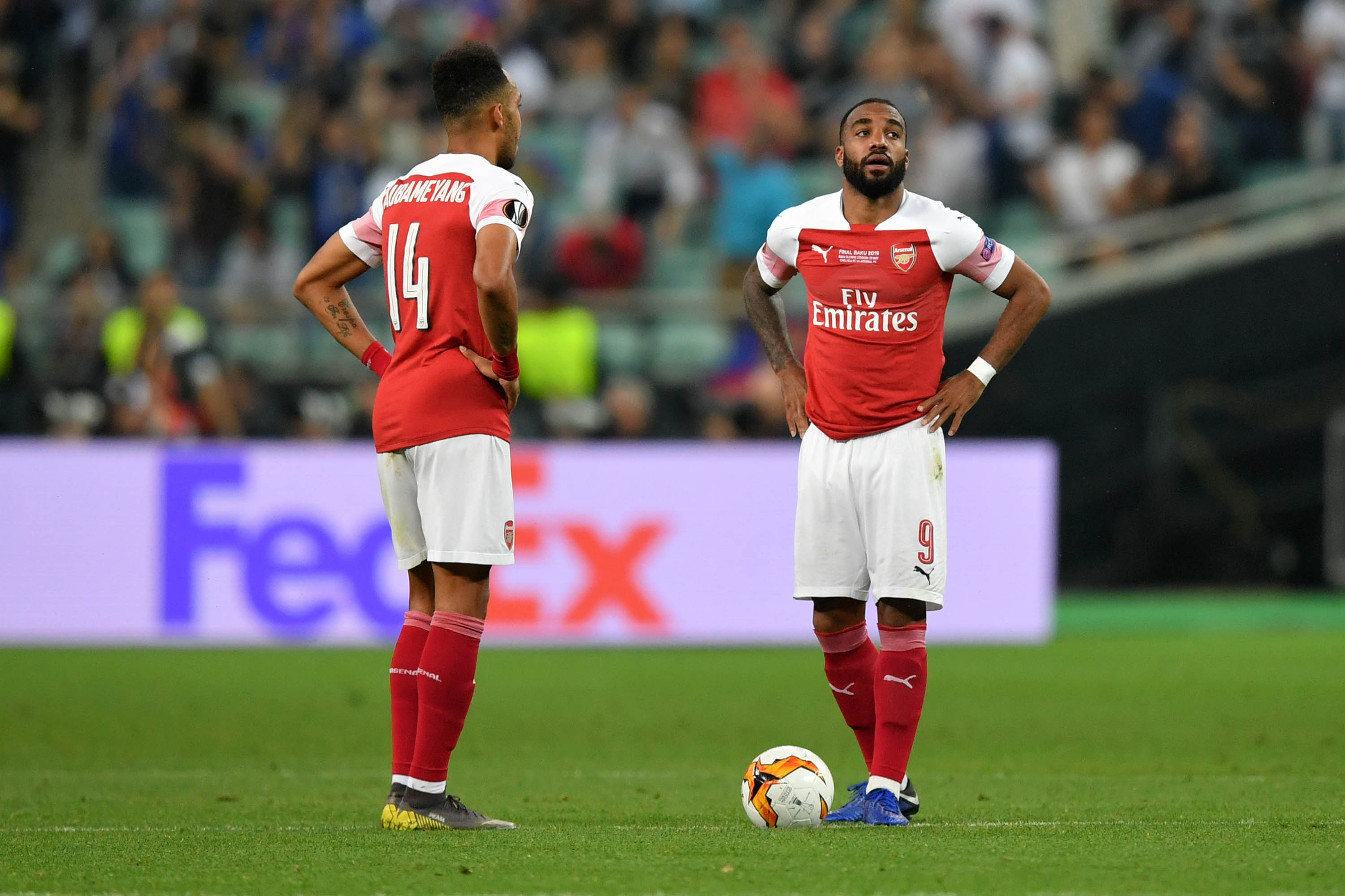 Arsenal's formidable strikers failed to show up on the big stage. (Photo courtesy: AFP/Getty)