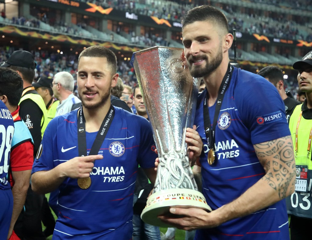 Hazard and Giroud - The stars of the show (Photo by Alex Grimm/Getty Images)