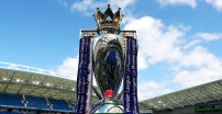 BRIGHTON, ENGLAND - AUGUST 12:  The Premier League trophy is displayed inside the stadium before the Premier League match between Brighton and Hove Albion and Manchester City at Amex Stadium on August 12, 2017 in Brighton, England.  (Photo by Dan Istitene/Getty Images)