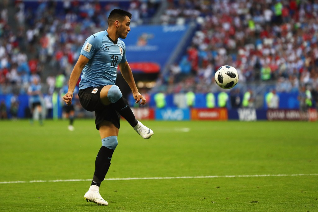 Good with the ball at his feet, Maxi Gomez is attracting serious offers. (Picture Courtesy - AFP/Getty Images)
