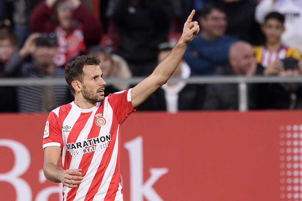 Stuani headed to Barcelona? (Photo by JOSEP LAGO/AFP/Getty Images)