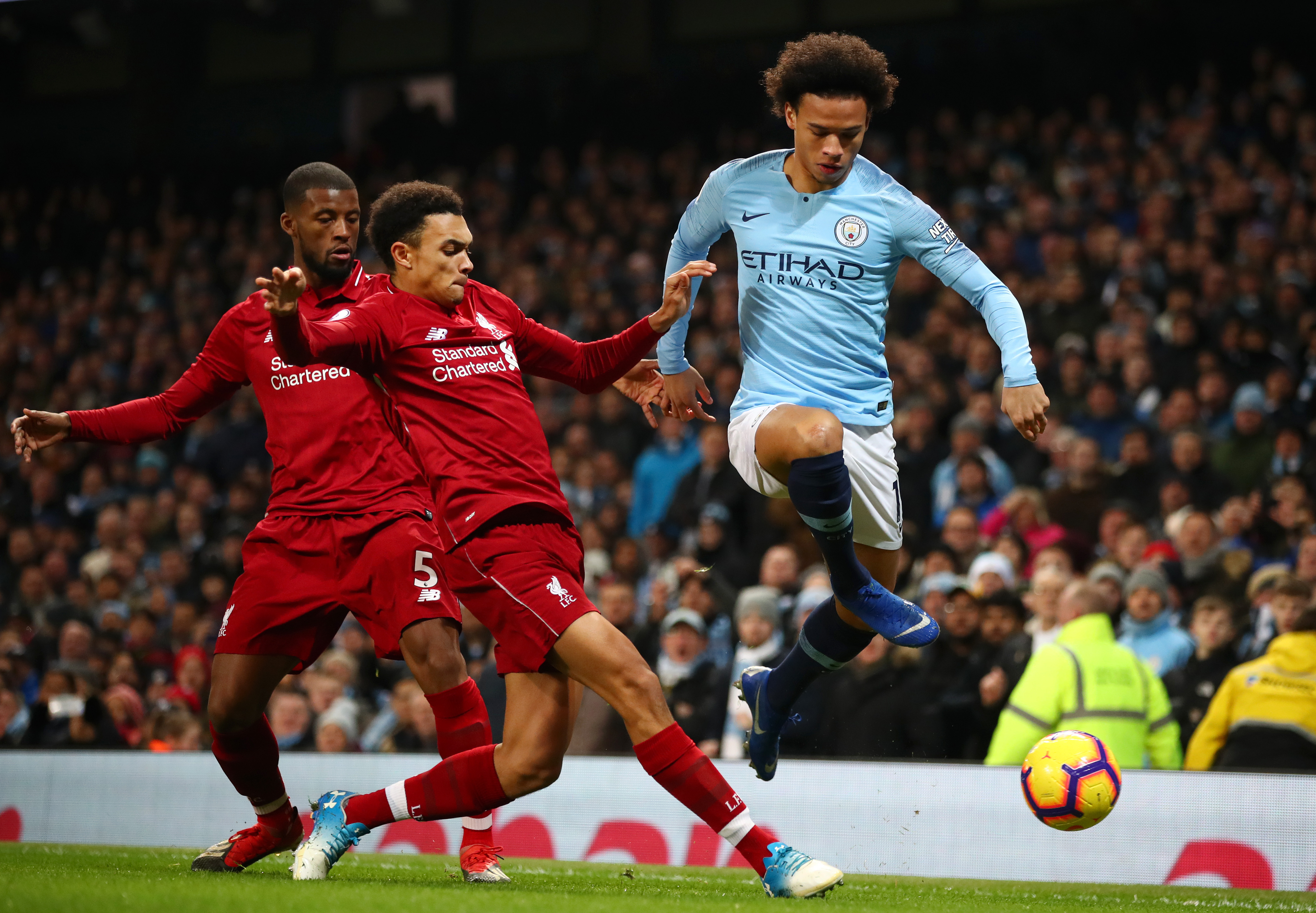 Sane's goal against Liverpool turned the title tide. (Photo courtesy: AFP/Getty)