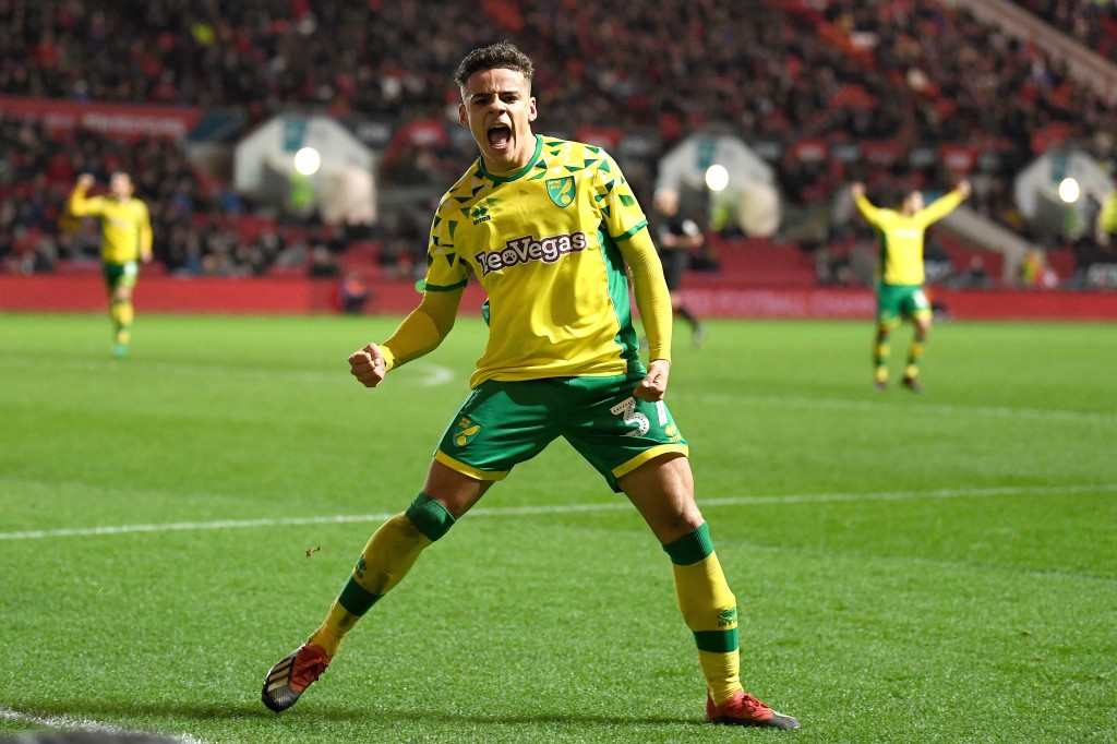 After a brilliant season in the Championship, Norwich star Max Aarons is drawing interest from Manchester United and Crystal Palace. (Picture Courtesy - AFP/Getty Images)