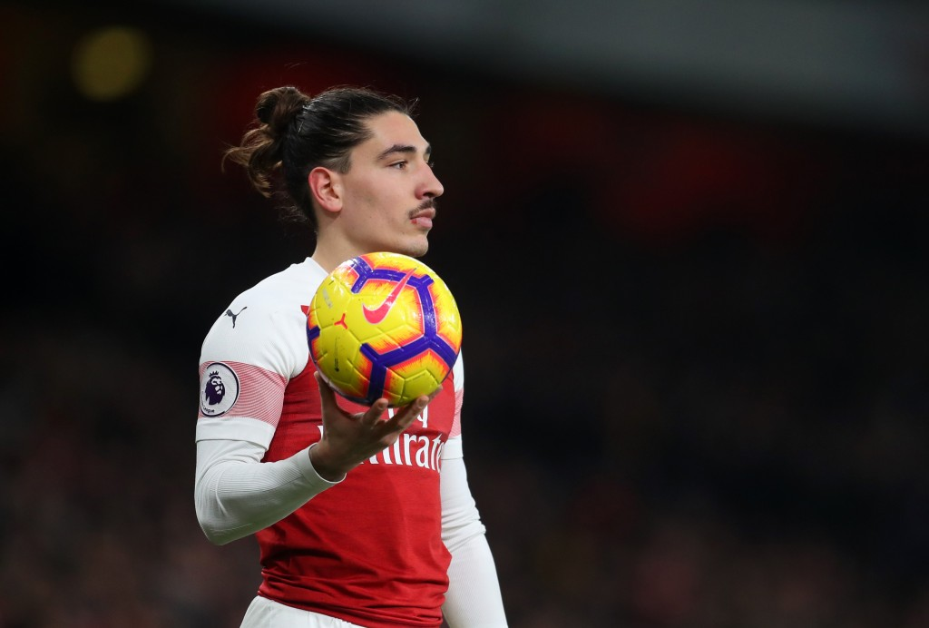 LONDON, ENGLAND - JANUARY 19: Hector Bellerin of Arsenal during the Premier League match between Arsenal FC and Chelsea FC at Emirates Stadium on January 19, 2019 in London, United Kingdom. (Photo by Catherine Ivill/Getty Images)