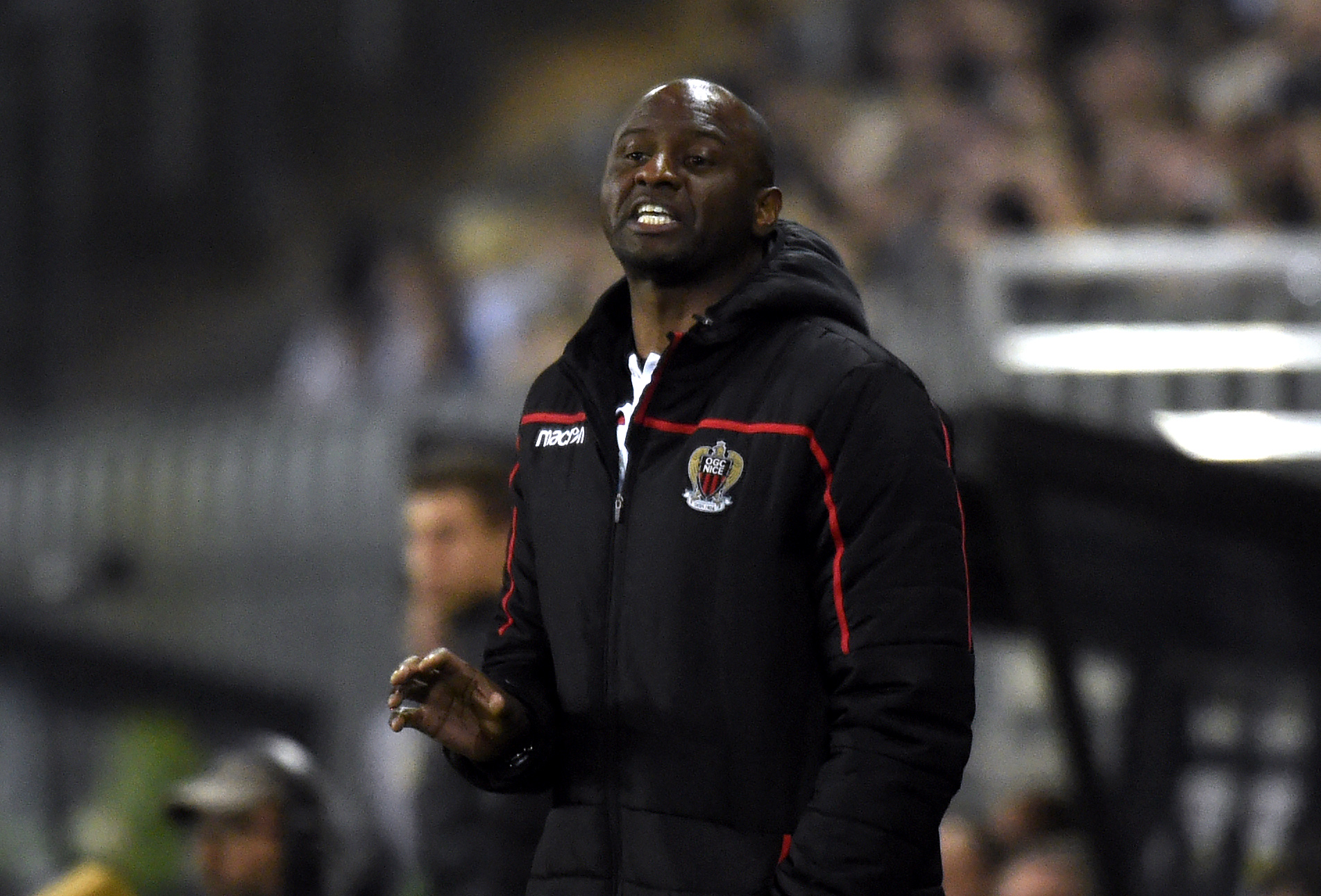 Can Patrick Vieira lead Nice to a win over PSG? (Photo by FRANCOIS LO PRESTI/AFP/Getty Images)
