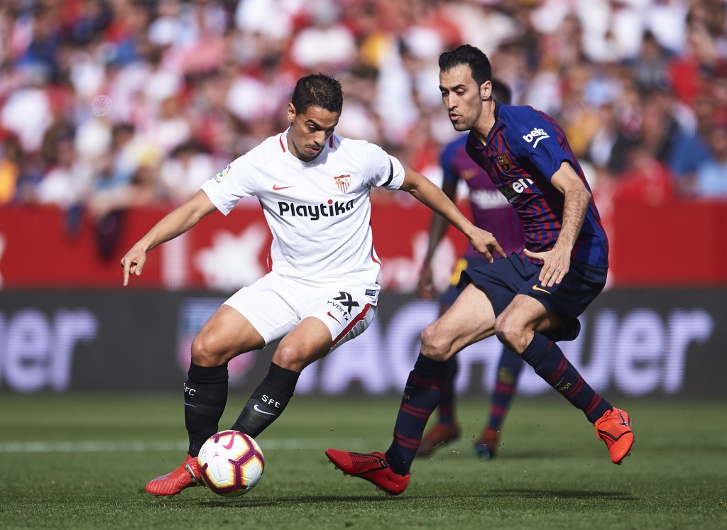Sevilla star Wissam Ben Yedder wants a bigger challenge as Manchester United circle. (Photo by Aitor Alcalde/Getty Images)