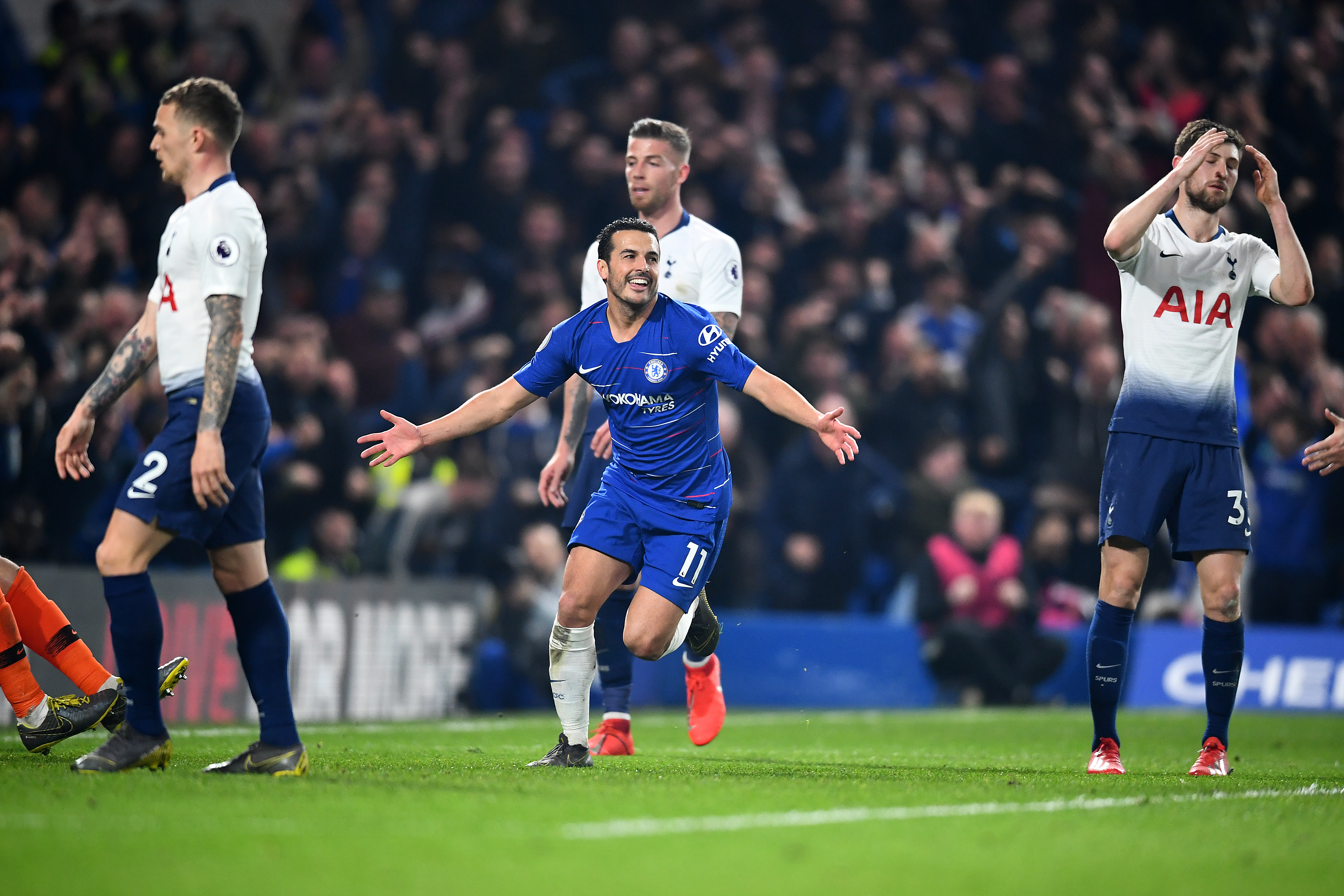 Chelsea dented Tottenham's slim hopes of a title challenge. (Photo courtesy: AFP/Getty)
