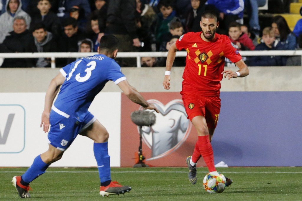 Carrasco set to join Arsenal? (Photo by MATTHIEU CLAVEL/AFP/Getty Images)