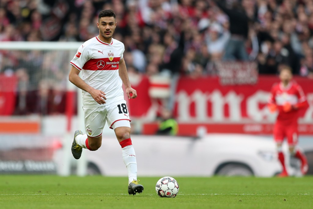 STUTTGART, GERMANY - MARCH 03: Ozan Kabak of VfB Stuttgart in action during the Bundesliga match between VfB Stuttgart and Hannover 96 at Mercedes-Benz Arena on March 3, 2019 in Stuttgart, Germany. (Photo by Christian Kaspar-Bartke/Bongarts/Getty Images)