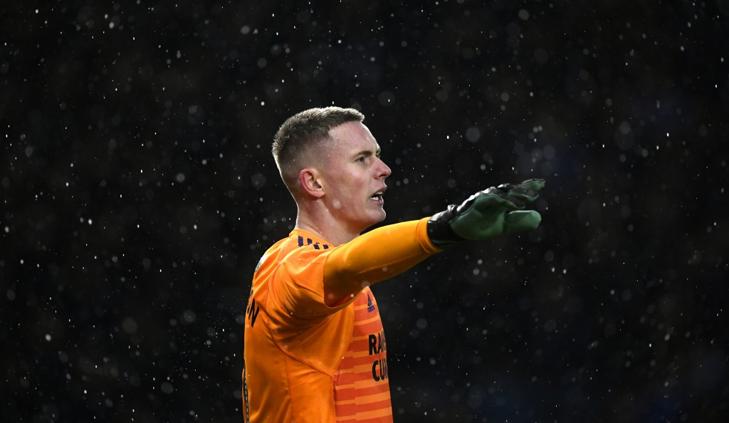 SHEFFIELD, ENGLAND - MARCH 04: Sheffield United goalkeeper Dean Henderson in action during the Sky Bet Championship match between Sheffield Wednesday and Sheffield United at Hillsborough Stadium on March 04, 2019 in Sheffield, England. (Photo by Stu Forster/Getty Images)