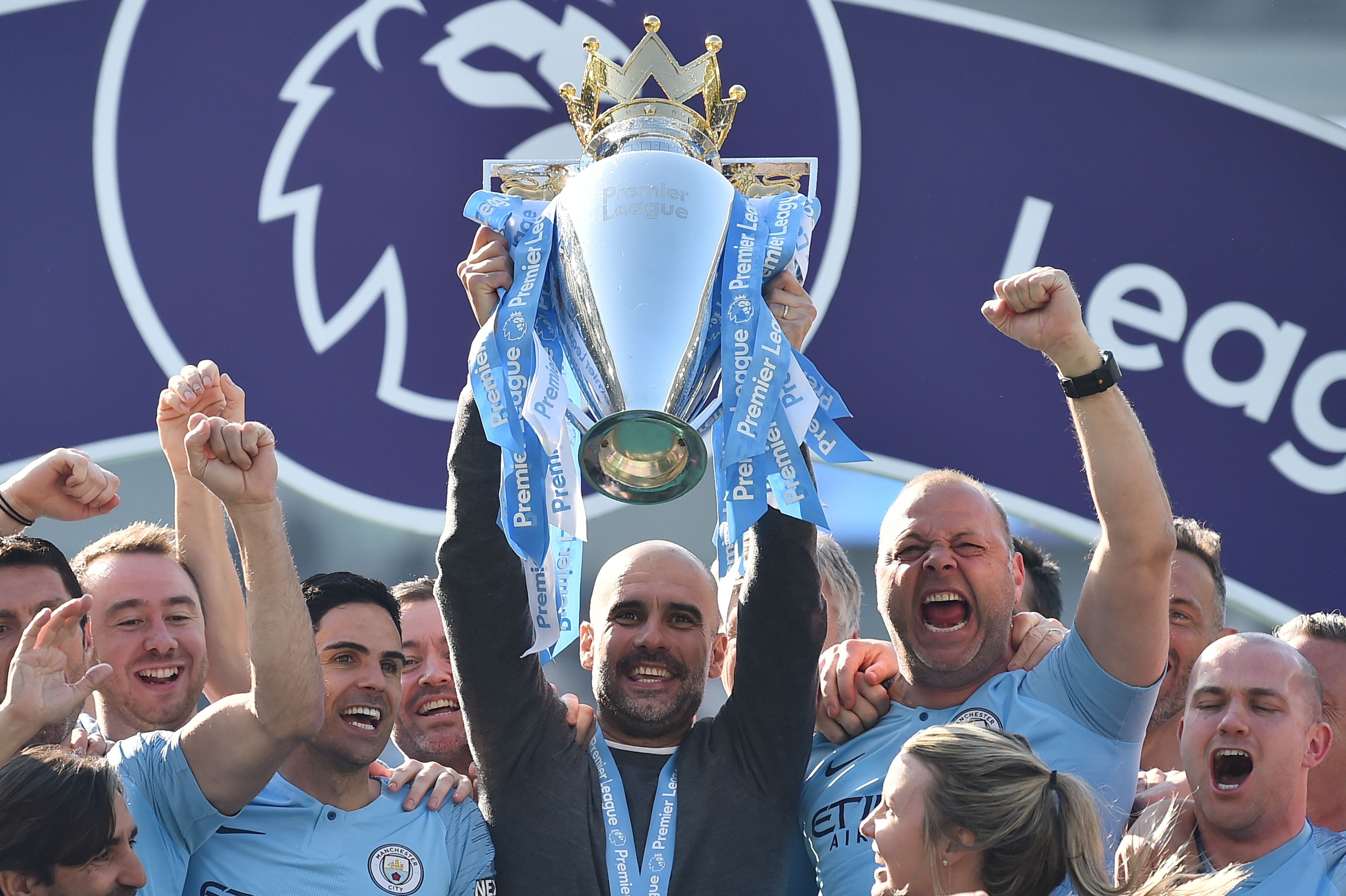 The Hard Tackle expect Pep to reign supreme again. (Photo by GLYN KIRK/AFP/Getty Images)