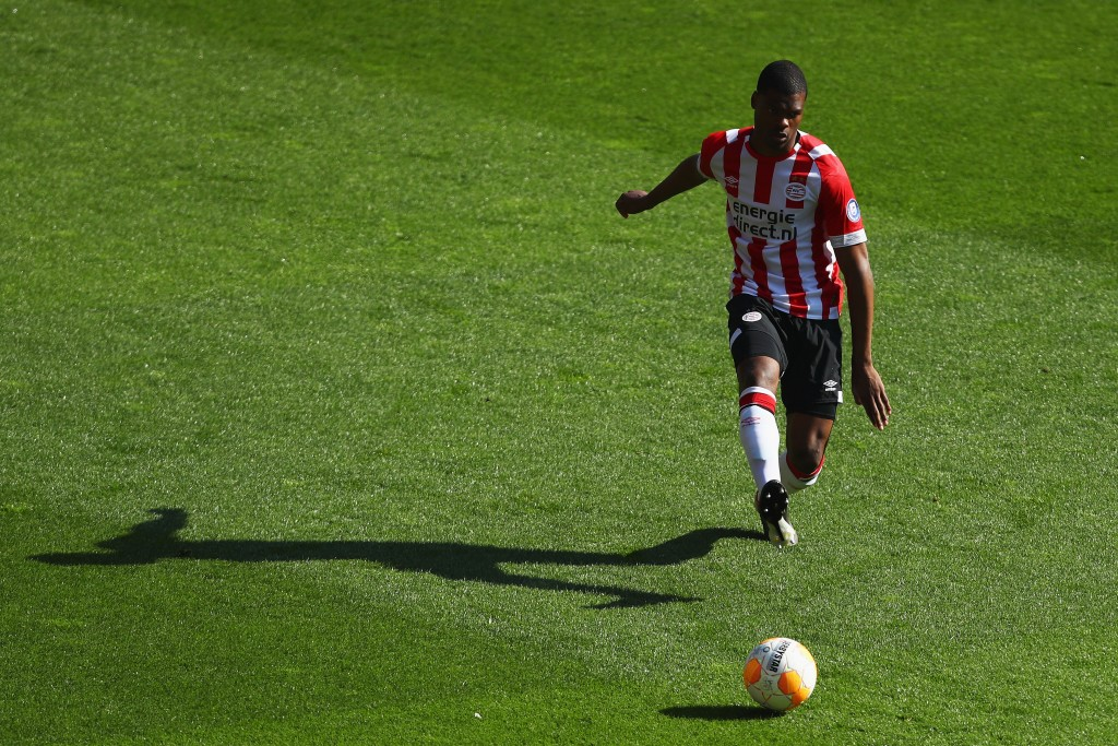 Denzel Dumfries could be set for a giant stride forward in his career, with Manchester United plotting a move for the PSV star. (Picture Courtesy - AFP/Getty Images)