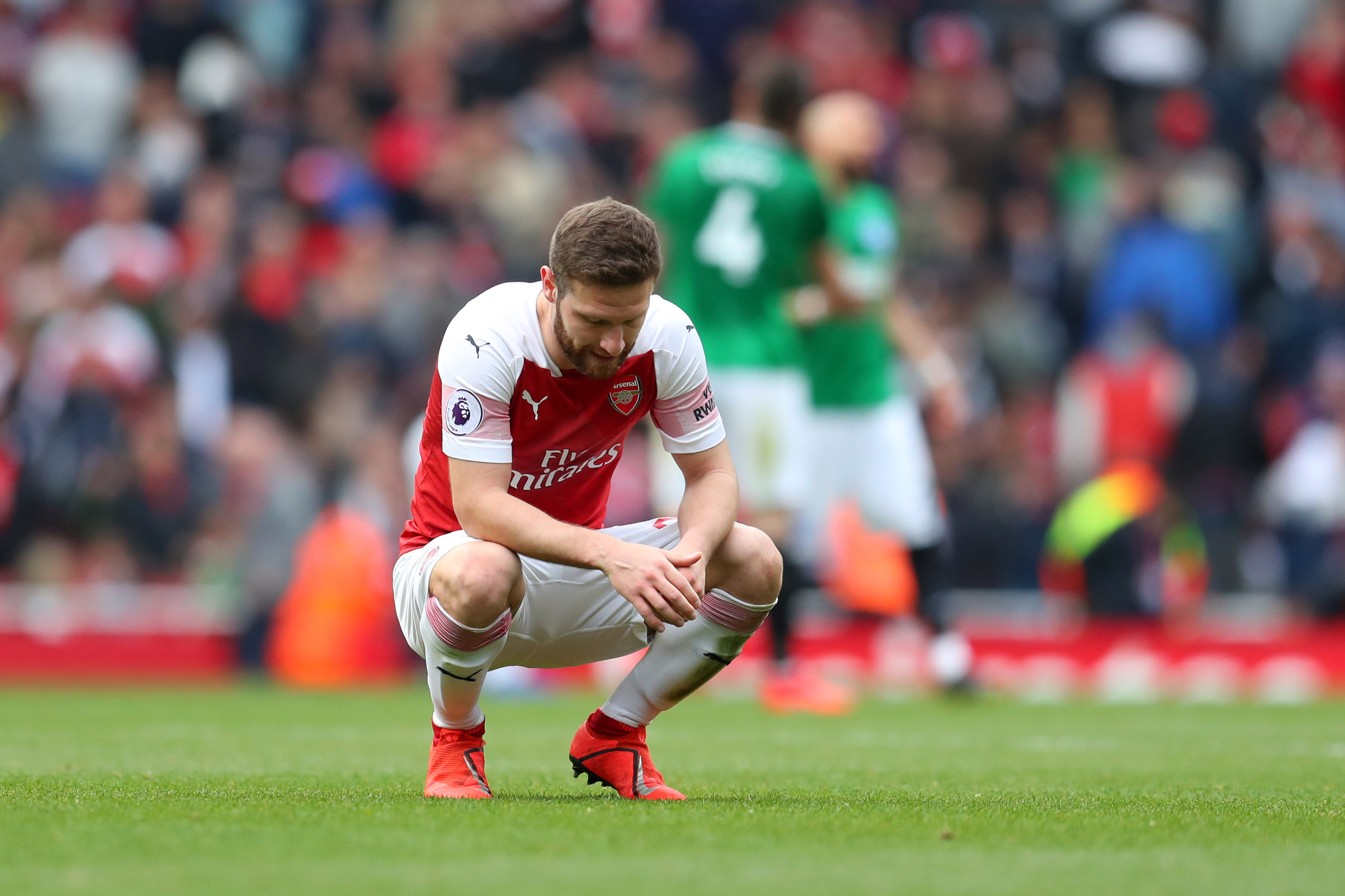 Coudl Mustafi leave Arsenal for AC Milan? (Photo courtesy: AFP/Getty)