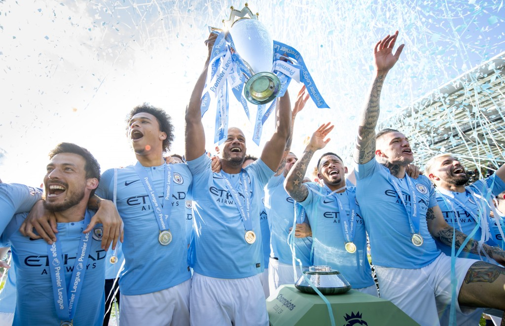Manchester City beat Liverpool to the title by just one point. (Photo by Michael Regan/Getty Images)