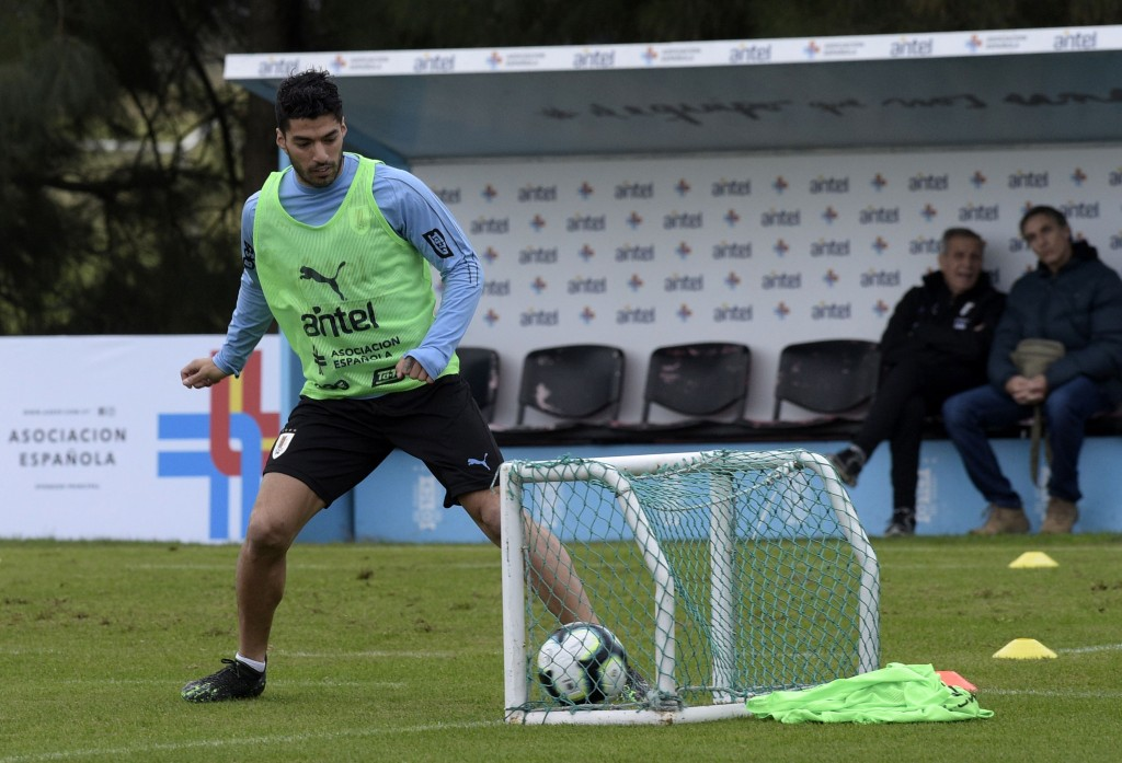 Uruguay's main man (Photo by MIGUEL ROJO/AFP/Getty Images)