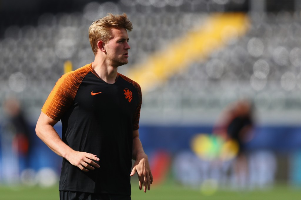 Matthijs de Ligt is still out with a shoulder injury. (Photo by Dean Mouhtaropoulos/Getty Images)