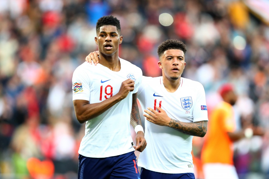 Marcus Rashford and Jadon Sancho will soon combine in a formidable Manchester United attack. (Photo by Dean Mouhtaropoulos/Getty Images)