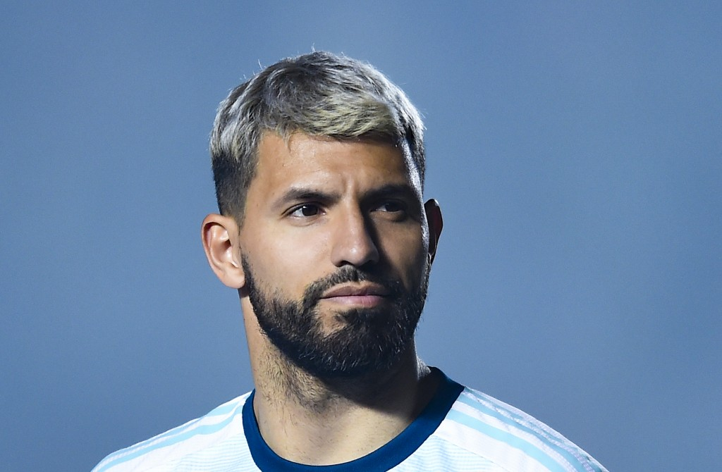 Is Aguero battling weight issues? (Photo by Marcelo Endelli/Getty Images)