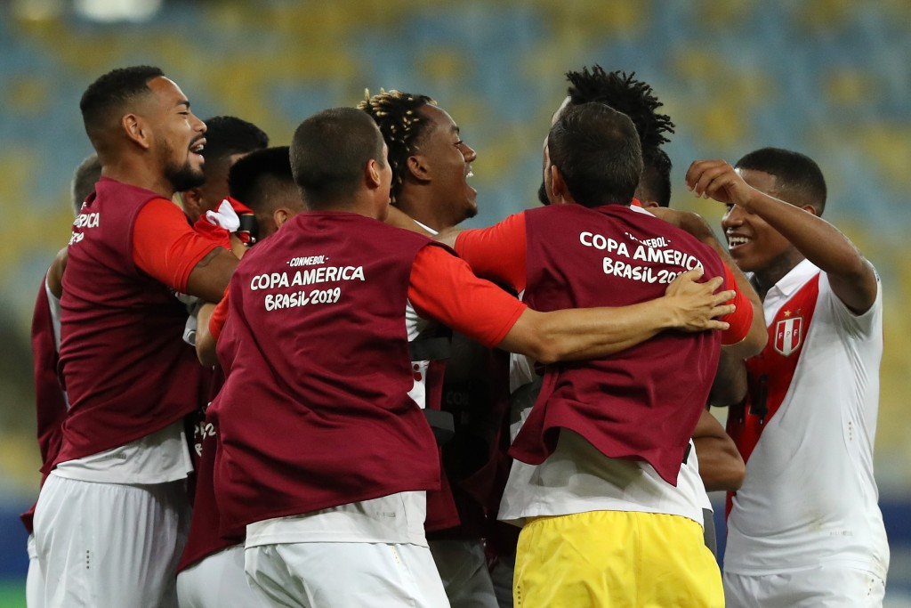 Peru are in contention to top the group after their 3-1 win over Bolivia. (Photo by Bruna Prado/Getty Images)