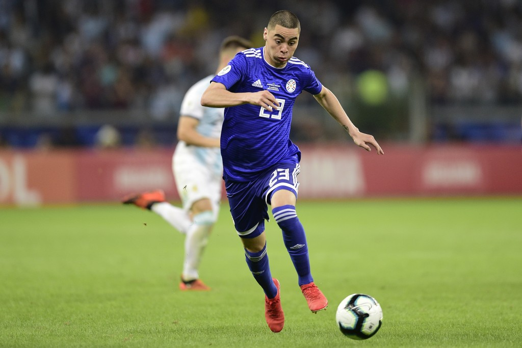 Almiron starring in Copa America (Photo by Juliana Flister/Getty Images)