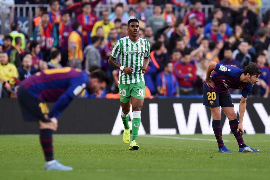 Could Junior Firpo soon be turning out alongside Gerard Pique and Sergi Roberto in the Barcelona defence? (Photo by Alex Caparros/Getty Images)