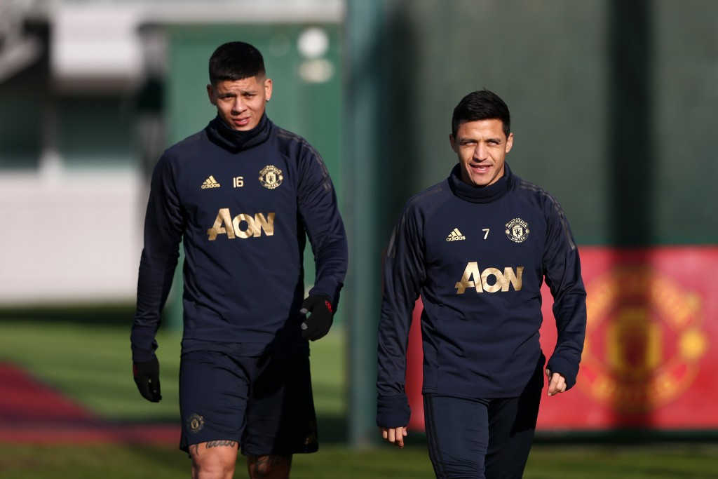 Like Alexis Sanchez, Rojo faces an uncertain future at Manchester United. (Photo by Jan Kruger/Getty Images)