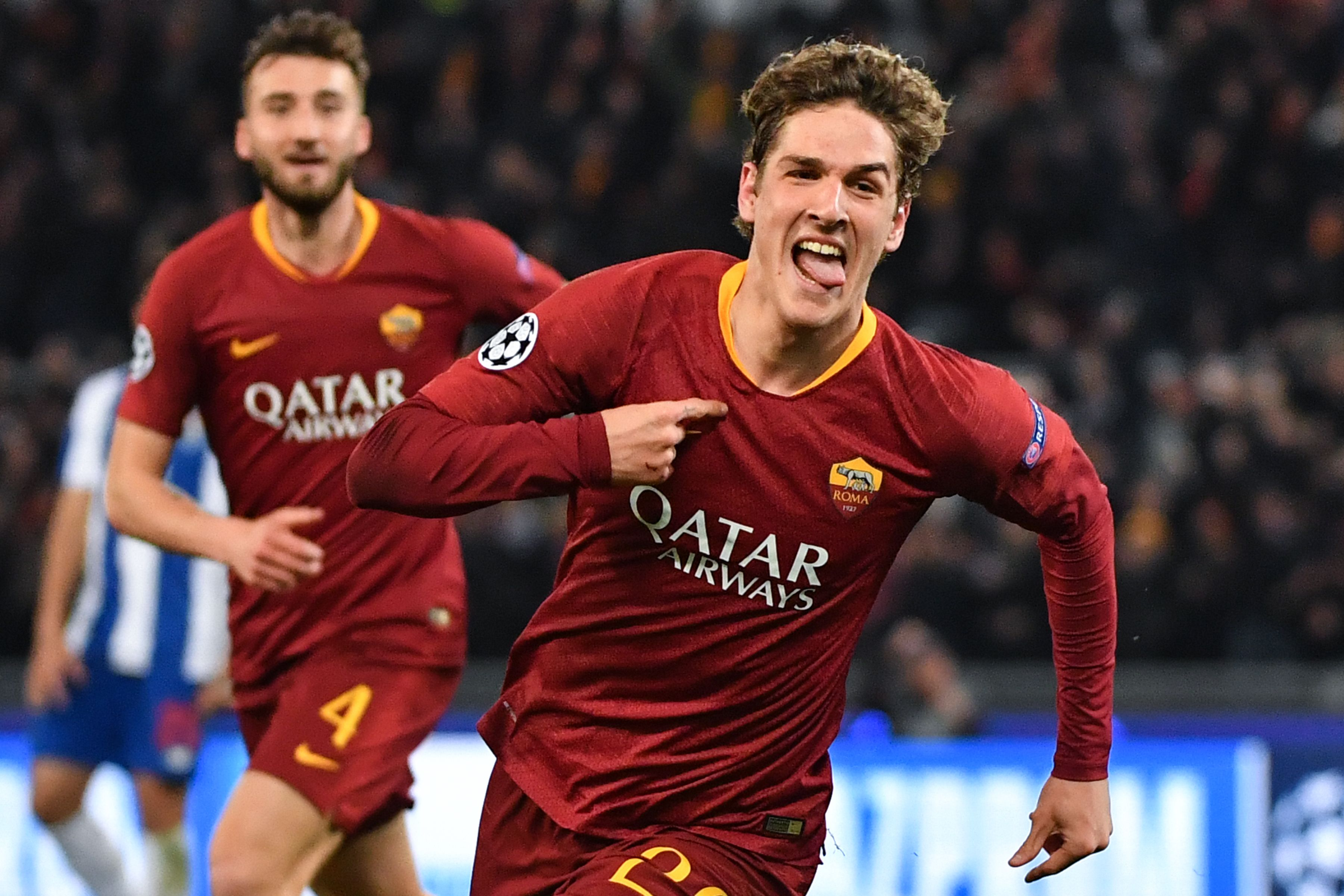 Nicolo Zaniolo is in high demand as Tottenham and Man Utd chase his signature. (Photo courtesy: AFP/Getty)