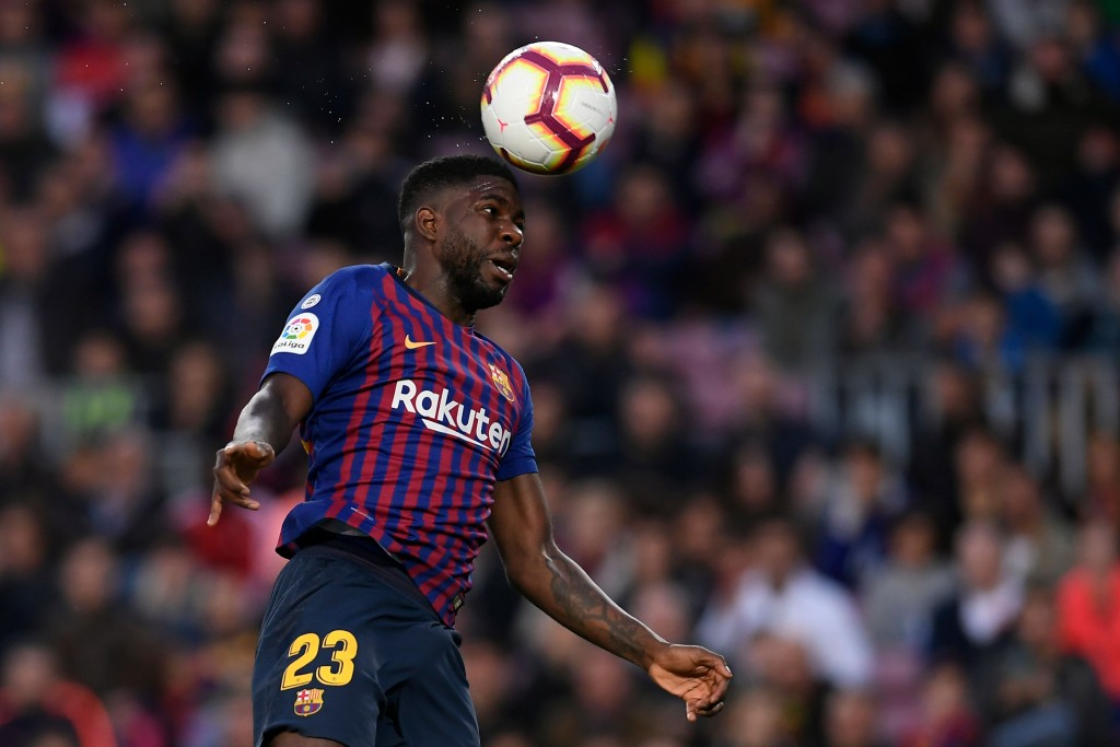 Could Umtiti soon be heading to the Premier League? (Photo by Lluis Gene/AFP/Getty Images)