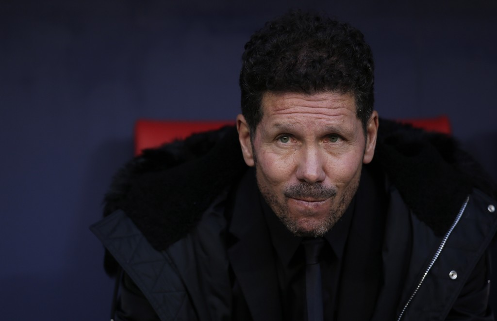 MADRID, SPAIN - APRIL 02: Diego Simeone, Manager of Atletico Madrid looks on prior to the La Liga match between Club Atletico de Madrid and Girona FC at Wanda Metropolitano on April 02, 2019 in Madrid, Spain. (Photo by Gonzalo Arroyo Moreno/Getty Images)