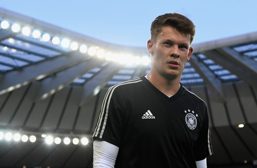 UDINE, ITALY - JUNE 17: Alexander Nübel of Germany looks on prior the 2019 UEFA U-21 Group B match between Germany and Denmark at Stadio Friuli on June 17, 2019 in Udine, Italy. (Photo by Alessandro Sabattini/Getty Images)