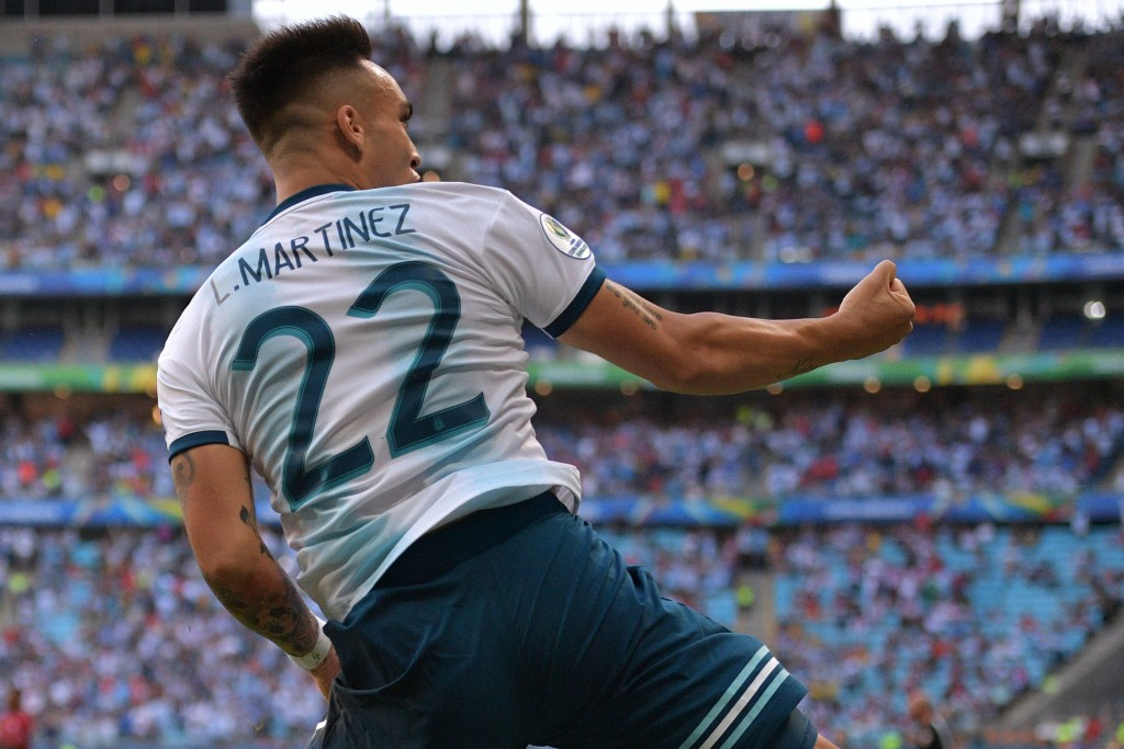 Will Lautaro Martinez deliver the goods for Argentina? (Photo by Carl de Souza/AFP/Getty Images)