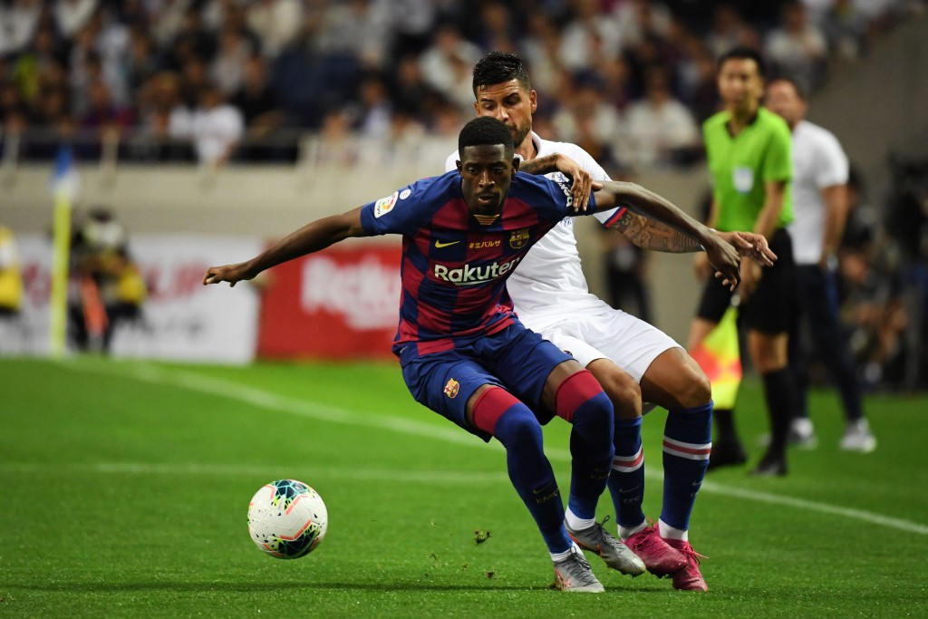 Does Dembele have a future at Barcelona? (Photo by TOSHIFUMI KITAMURA/AFP/Getty Images)