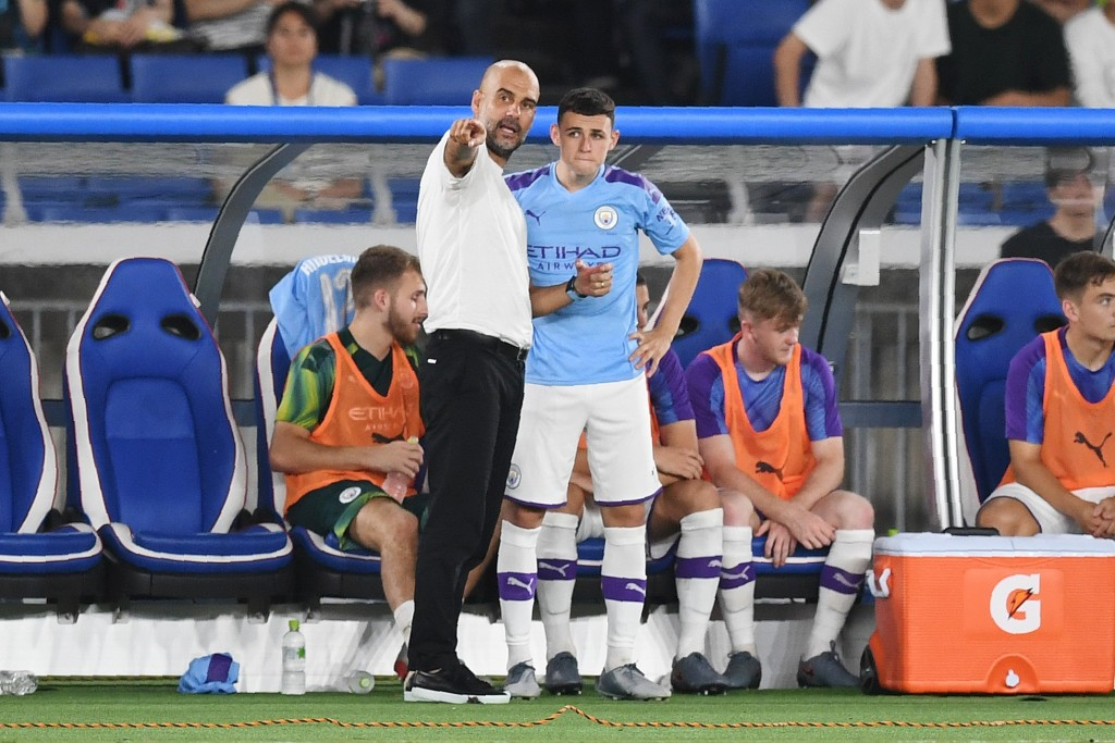 Guardiola certainly holds Foden in high esteem (Photo by CHARLY TRIBALLEAU/AFP/Getty Images)