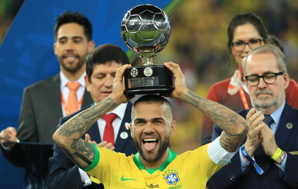 Fresh off being crowned the best player at the 2019 Copa America, Dani Alves could be set for a return to La Liga. (Photo by Buda Mendes/Getty Images)