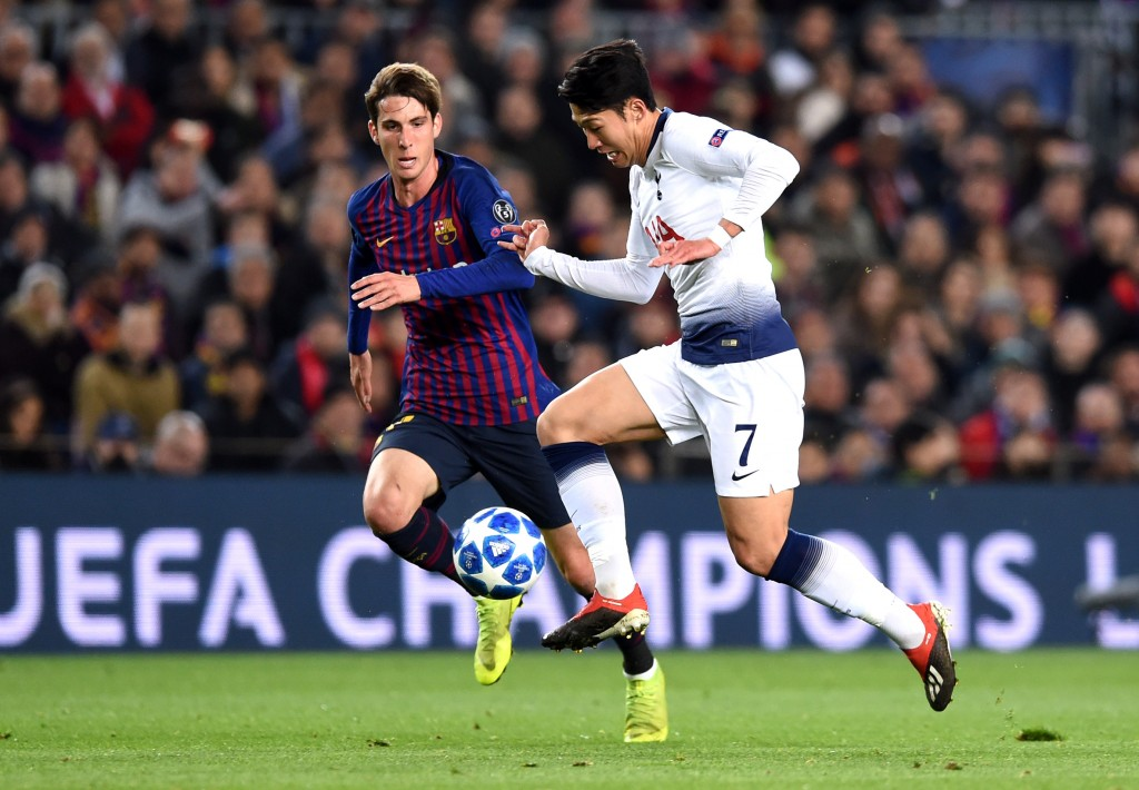 Juan Miranda had a positive 2018-19 campaign breaking through at Barcelona. (Picture Courtesy - AFP/Getty Images)