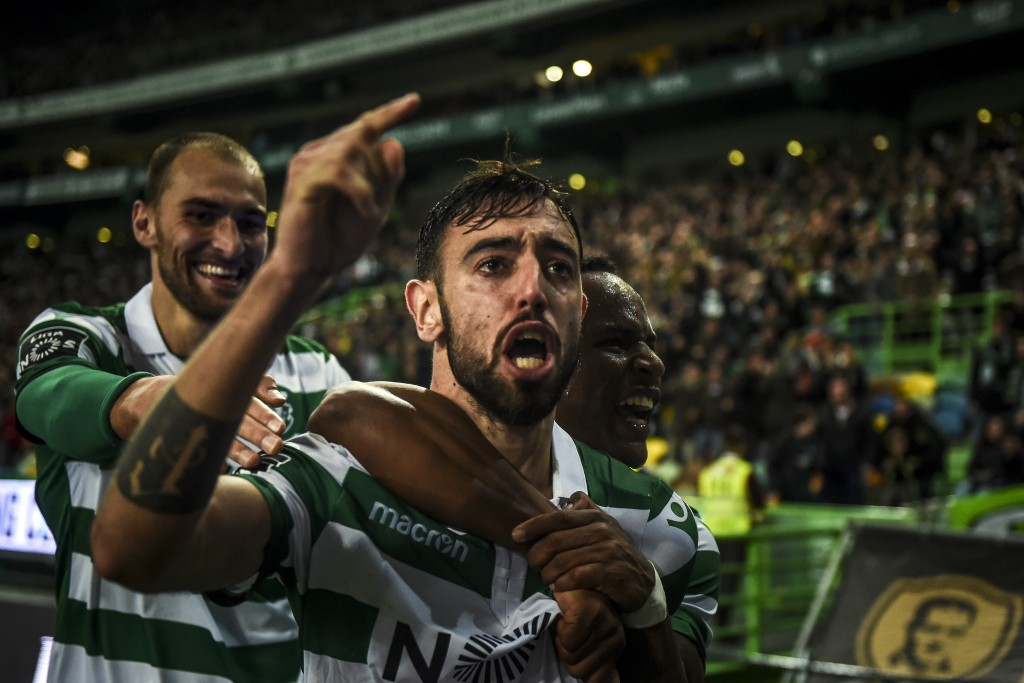 Manchester United, Tottenham or Real Madrid - Where will Bruno Fernandes play next season? (Photo by Patricia de Melo Moreira/AFP/Getty Images)