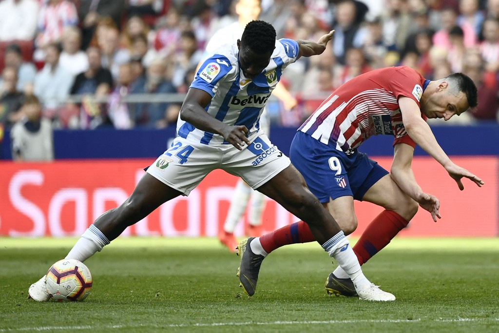Omeruo to return to Leganes permanently? (Photo by PIERRE-PHILIPPE MARCOU/AFP/Getty Images)