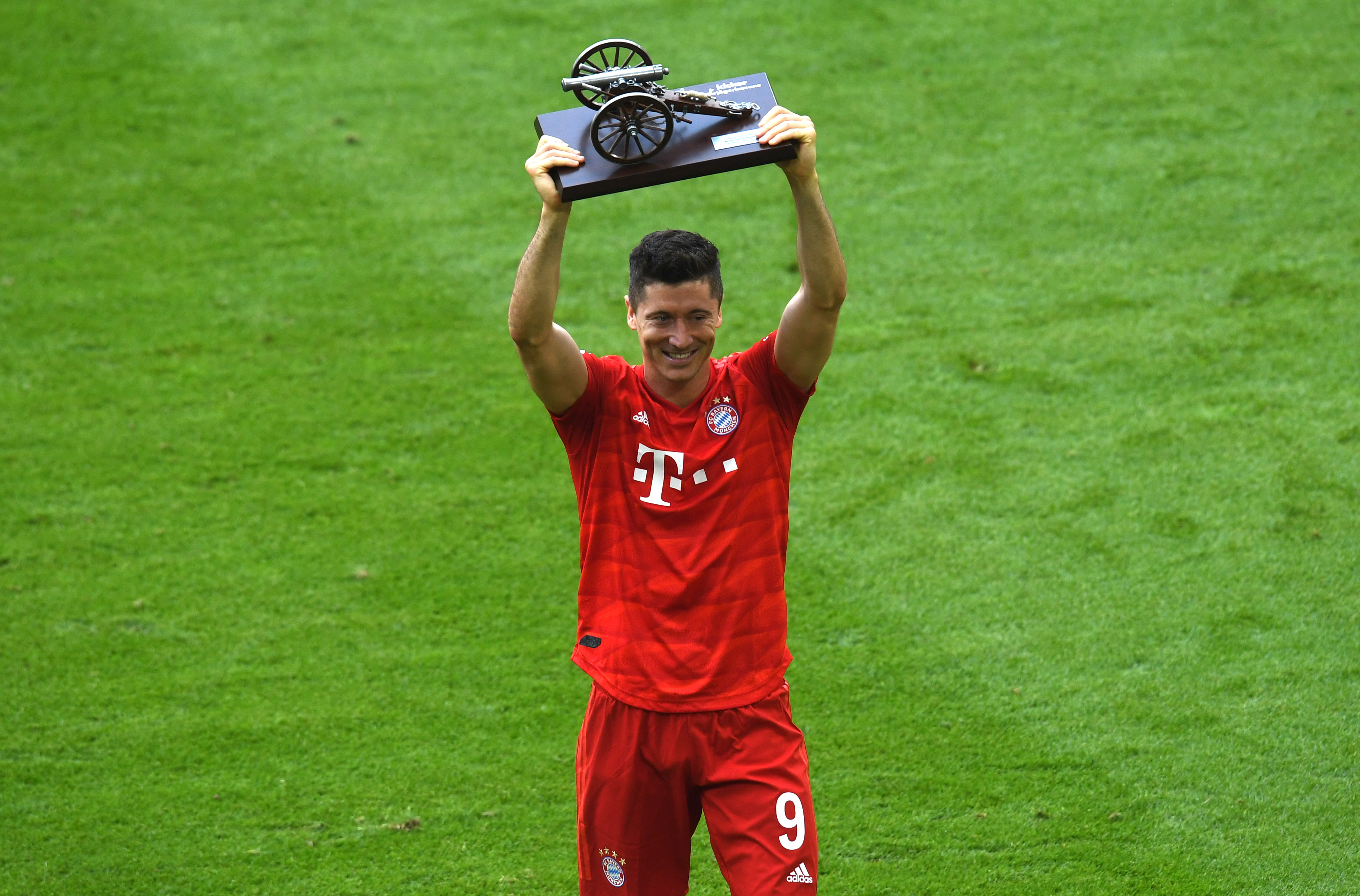 Robert Lewandowski: Bayern's very own Polish goal machine. (Photo by Christof STACHE / AFP) / DFL REGULATIONS PROHIBIT ANY USE OF PHOTOGRAPHS AS IMAGE SEQUENCES AND/OR QUASI-VIDEO (Photo credit should read CHRISTOF STACHE/AFP/Getty Images)
