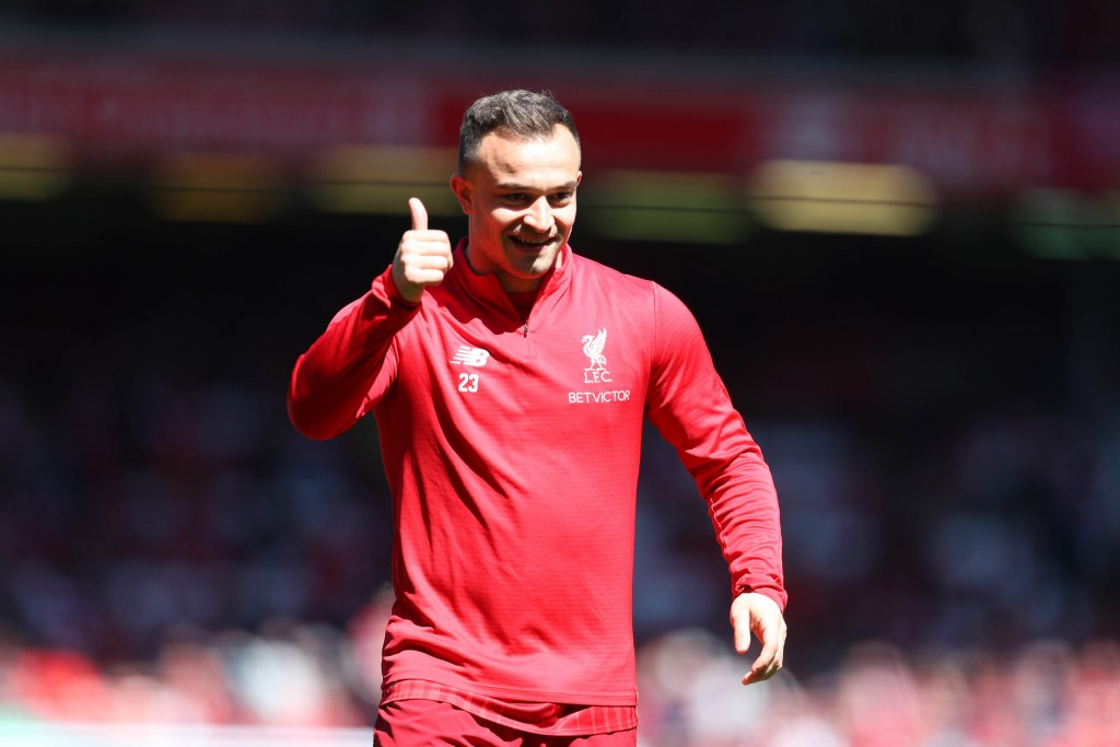 Will Shaqiri give his thumbs up to Lyon? (Photo by Catherine Ivill/Getty Images)