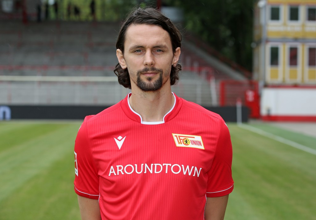 BERLIN, GERMANY - JULY 06: Neven Subotic of 1.FC Union Berlin poses during the team presentation at Stadion an der Alten Foersterei on July 6, 2019 in Berlin, Germany. (Photo by Matthias Kern/Bongarts/Getty Images)